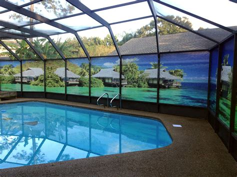 pool screen privacy curtains image gallery lanai privacy