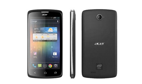mobile acer acer launches phone in asia running intel s new