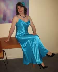 crossdressers satin dress images