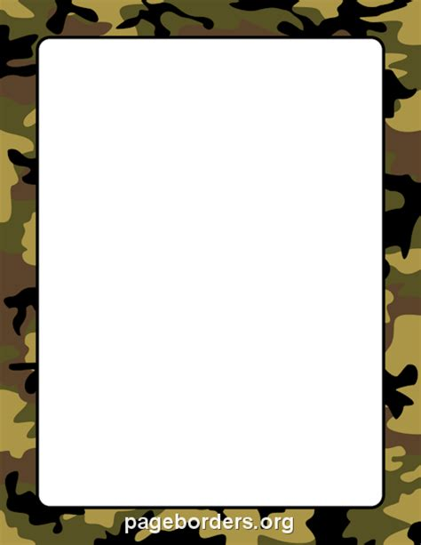 army pattern border camouflage border for word clipart best
