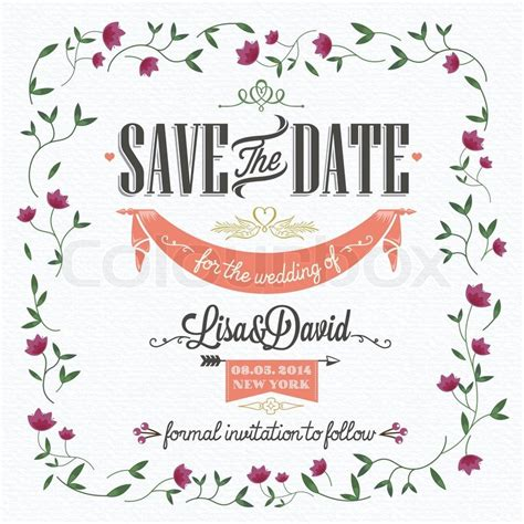 Wedding Invitation Card Shopping by Save The Date Wedding Invitation Card Stock Vector