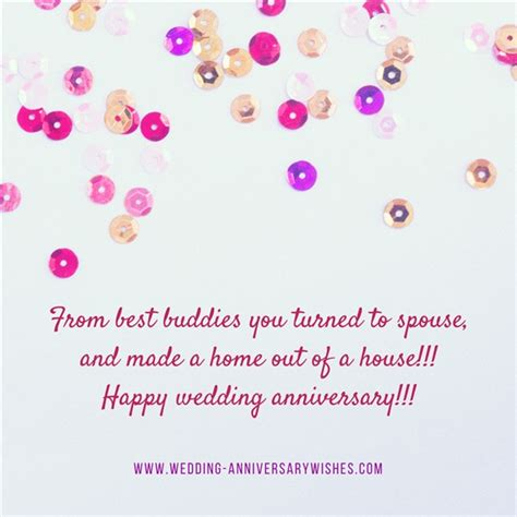 Wedding Anniversary Wishes For by Wedding Anniversary Wishes For Friends Wedding