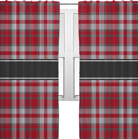 red plaid curtain panels red gray plaid curtains 56 quot x80 quot panels lined 2