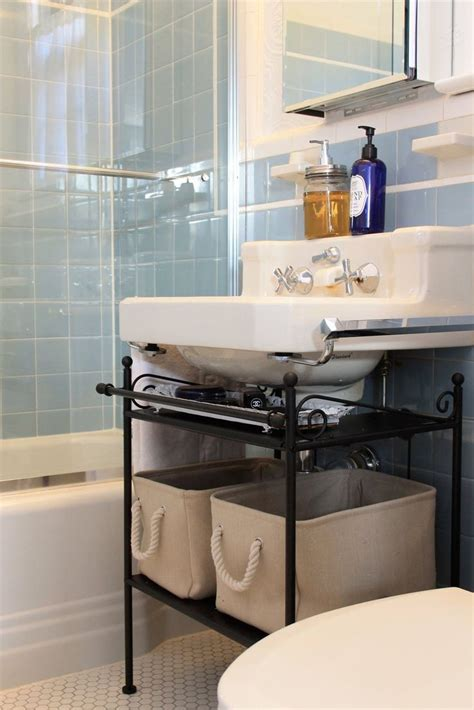 the bathroom sink storage ideas best 25 pedestal sink storage ideas on