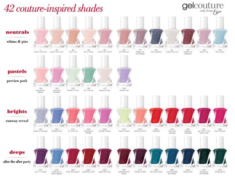 essie gel colors essie gel color chart essie gel couture launch