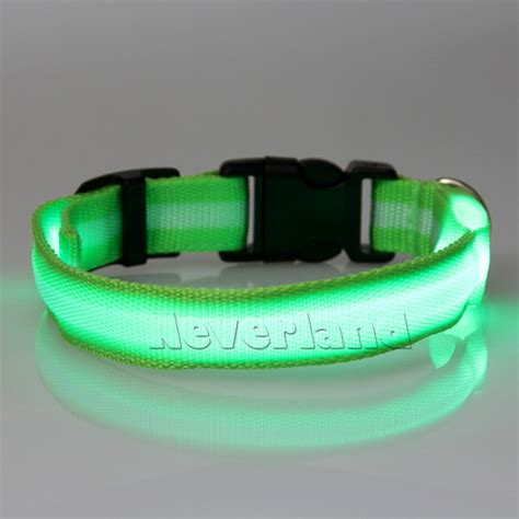 Light Pet by Led Light Up Pet Safety Collar Bright