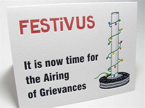 festivus airing  grievances holiday cards digby rose digby rose invitations dc