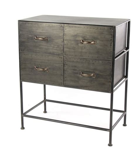 industrial style desk with drawers console 2 drawers grey industrial style