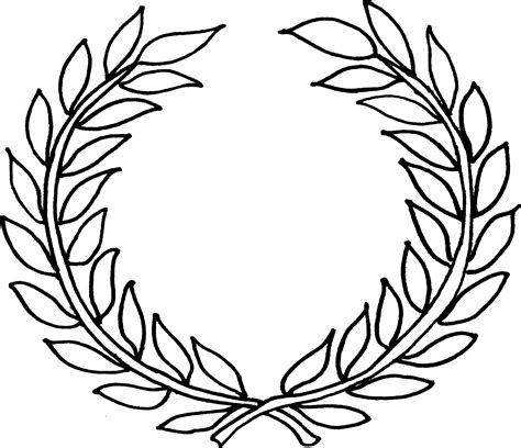 laurel leaf crown template laurel leaf template clipart best