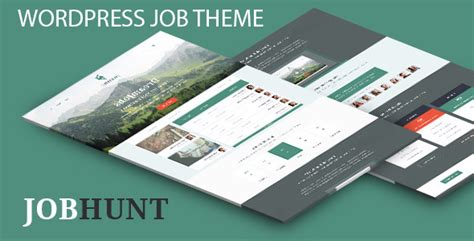 themeforest job board jobhunt job board wordpress theme wordpress themeforest