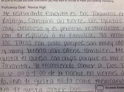 writing  restaurant review activity  bethanie drew musicuentos