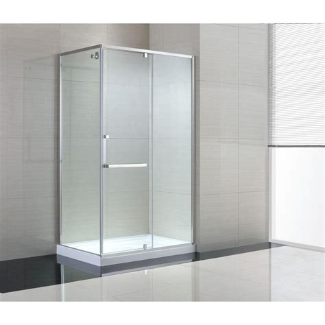 Schon Brooklyn 48 In X 79 In Semi Framed Corner Shower Clear Glass Shower Door