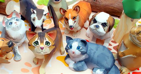 Creative Park Papercraft - animal canon creative park