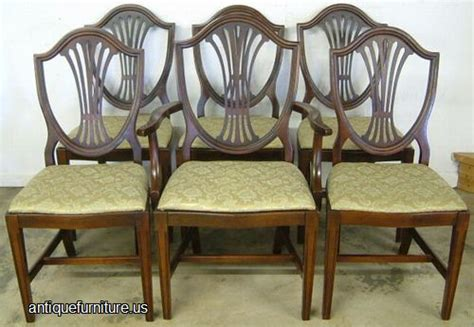 Duncan Phyfe Dining Room Set antique set mahogany shieldback dining chairs at antique