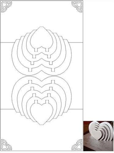 spiral pop up card template free 3d herz and popup on