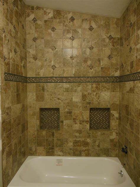 tub surround with single built in shower shelf marazzi job done by jim leister in riverton wy tub surround with