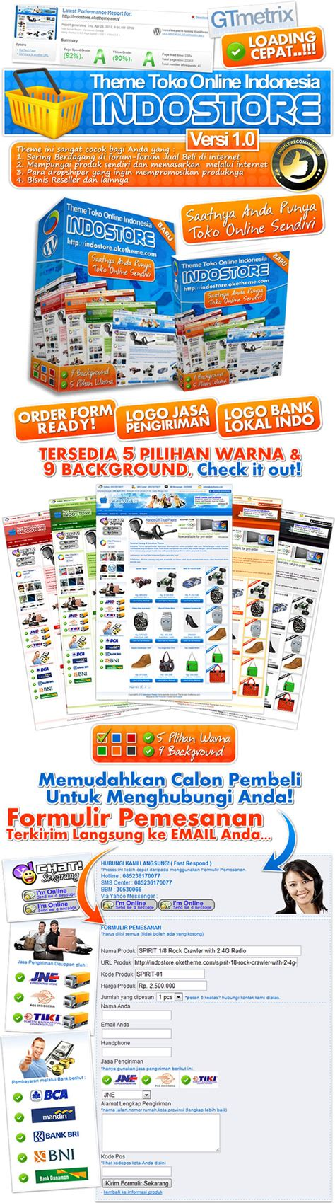 Theme Template Toko Indostore webawang tips trik komputer software android