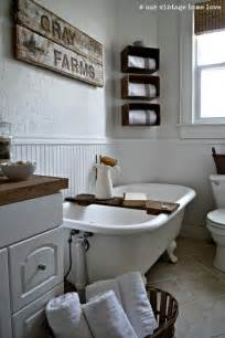 Farmhouse Bathroom Ideas by Our Vintage Home Love Farmhouse Bathroom