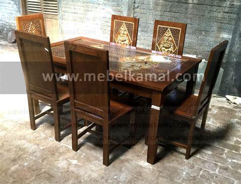 Meja Makan Jati Minimalis Jepara 1 mebel jepara minimalis modern meja makan 6 kursi kayu jati
