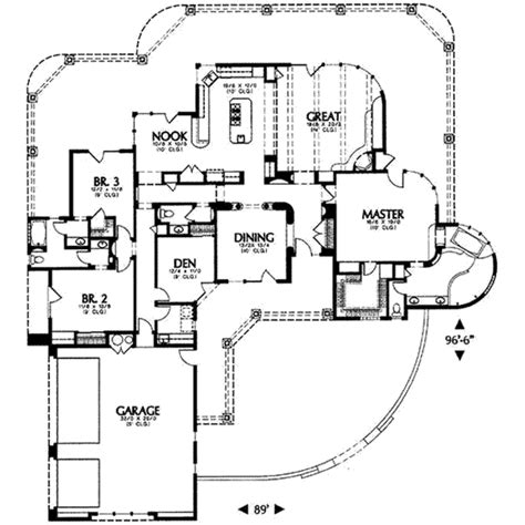 3000 square feet house plans adobe southwestern style house plan 3 beds 3 baths