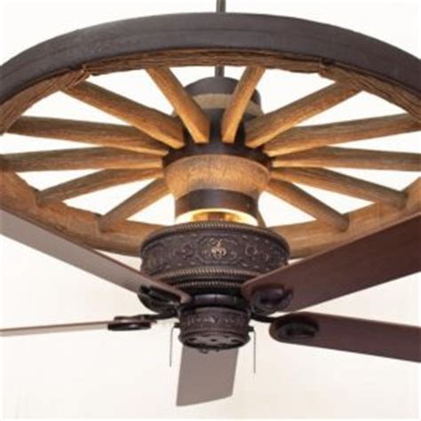 Copper Canyon Sandia Western Ceiling Fan Rustic Lighting Wagon Wheel Ceiling Fan