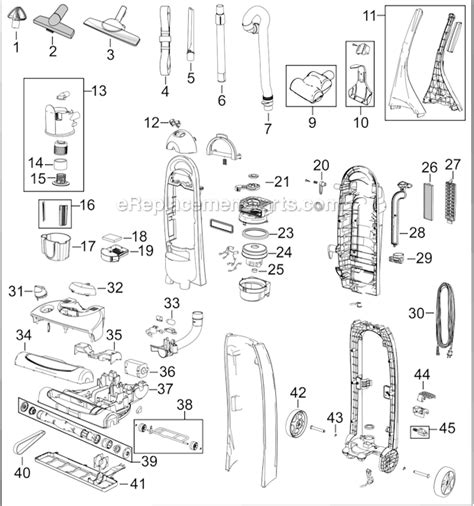 bissell vacuum parts diagram bissell 4220 parts list and diagram ereplacementparts