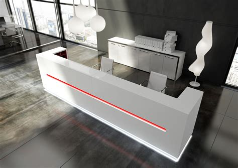 modern white reception desk design led reception desks