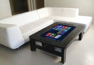 computer coffee table giant coffee table touchscreen computer craziest gadgets