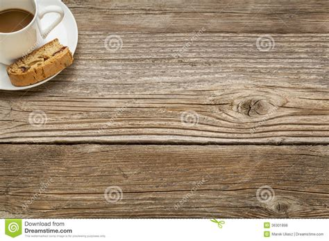 coffee on a rustic wooden table royalty free stock photos