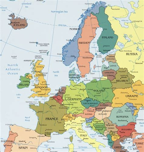 Map Of East Europe by Countries Of East Europe Map