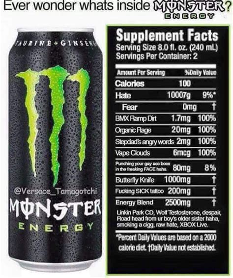 energy drink list after years of secrecy energy drink s official
