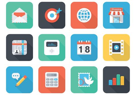 Free Flat App Vector Icons For Mobile And Web - Download ...