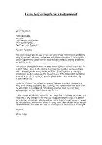 It Repair Cover Letter by Sle Letter To Landlord For Repair Request Cover Letter Templates