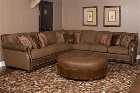 king ranch leather couch king hickory