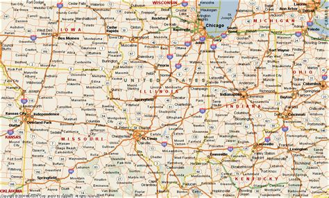 il map illinois map