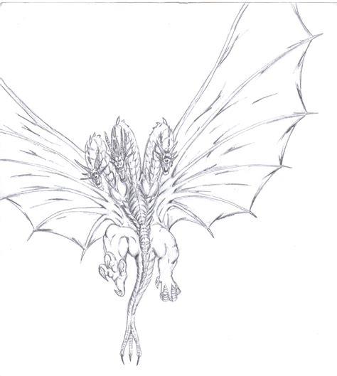 king ghidorah coloring page king ghidorah by mikedastardly on deviantart