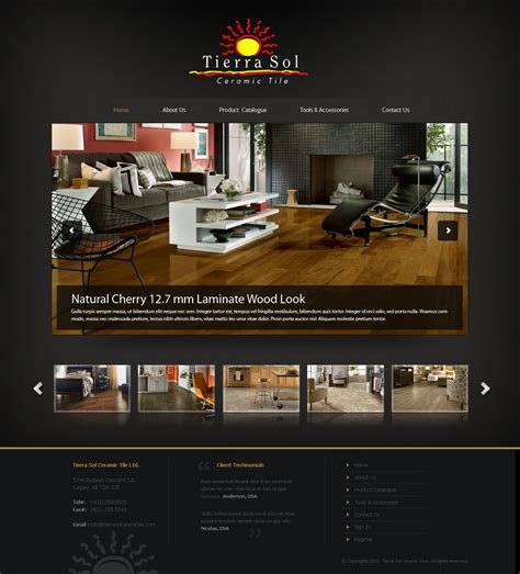 that home site decorating web page design contests 187 tierra sol ceramic tile web