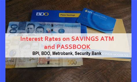 security bank rates interest rates atm and passbook savings account in bdo