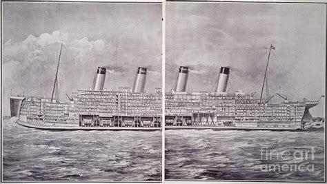 Titanic Section by Cross Section Of Titanic Photograph By Granger