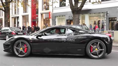 ferrari 458 black black ferrari 458 italia awesome acceleration downshifts