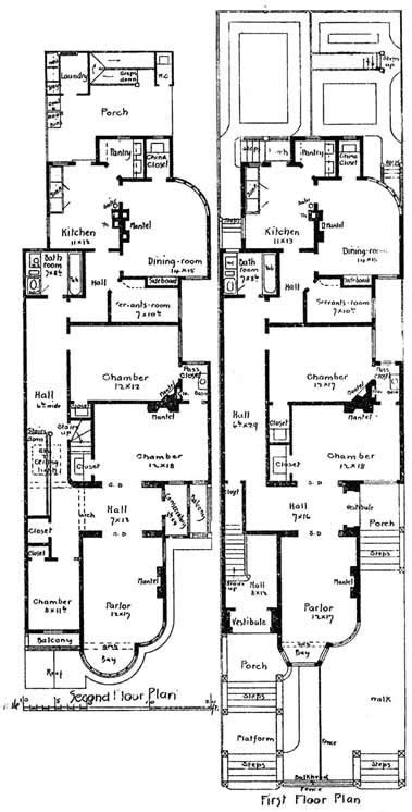 san francisco floor plans california victorian houses with plans designed by newsom