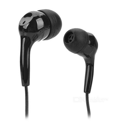 3 5mm in ear earphone black intl hsl 710 universal 3 5mm in ear earphone black