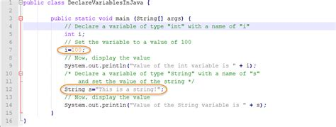 how to declare string in java how to declare variables in java webucator