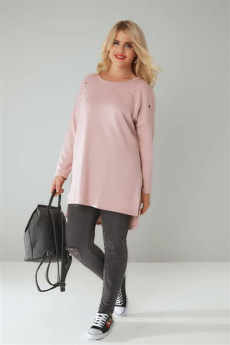 Goldsmiths Gift Card Terms And Conditions - dusty pink sweat top with eyelet details