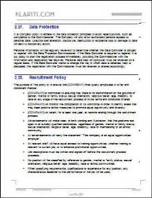 employee policy manual template employee handbook template 100 pg ms word