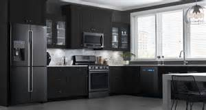black stainless steel kitchen these samsung black stainless steel appliances look