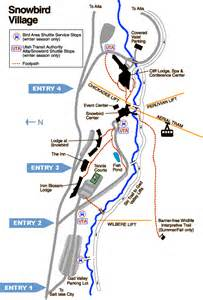 Snowbird Utah Map by Snowbird Ski And Summer Resort Resort Map