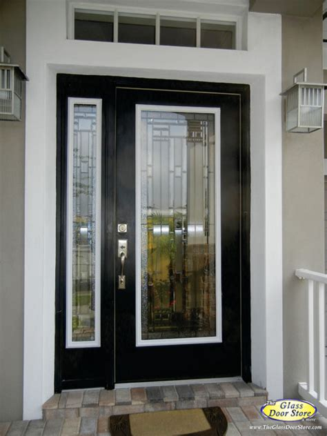 Exterior Side Door With Window Change The Existing Glass In The Door Traditional