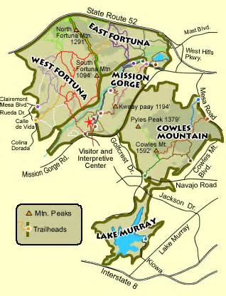 mission trail map san diego sports paradise mountains around the