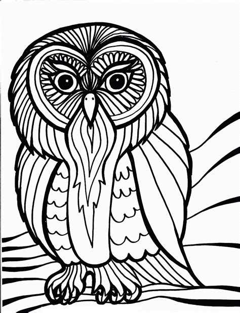 free printable owl coloring pages free printable owl coloring pages for kids